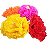 Amazon mexican fiesta crepe paper flowers gardenias large mexican paper flower set of 4 x large tissue paper hand made party fiesta decor mightylinksfo