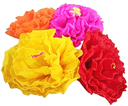 Amazon mexican paper flower set of 4 x large tissue paper hand mexican paper flower set of 4 x large tissue paper hand made party fiesta decor mightylinksfo