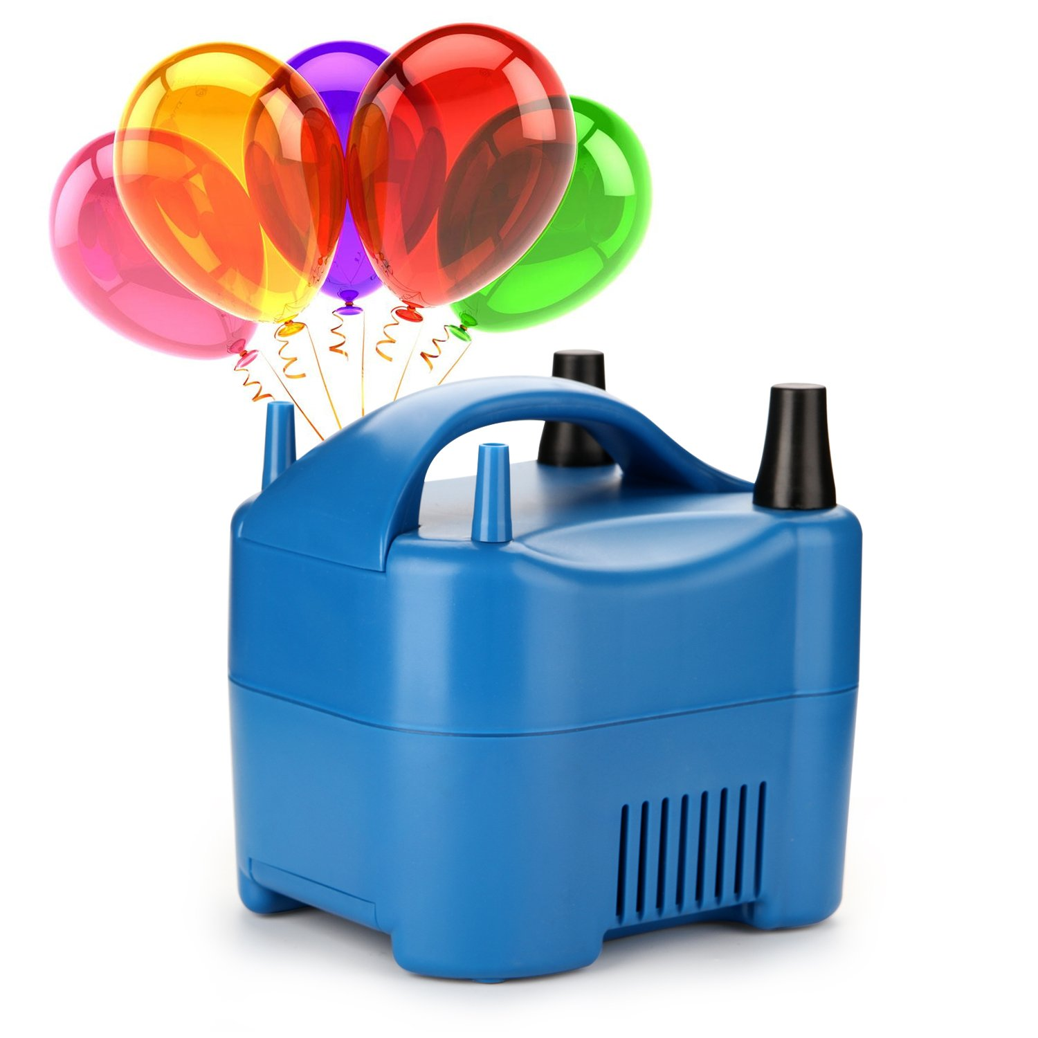 AGPtek Two Nozzle High Power Electric Balloon Inflator Pump Portable Blue Air Blower, 680W High Power, Inflate In One Second BP3-EU