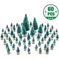 MELLIEX 60 pcs Árbol de Navidad en Miniatura