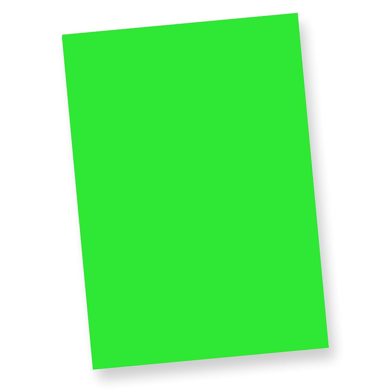 TATMOTIVE Fine50 Neonpapier Extrem Grell NEON (50 Blatt) DIN-A-4, 80 g/qm farbiges Briefpapier, Leuchtpapier - Grü n