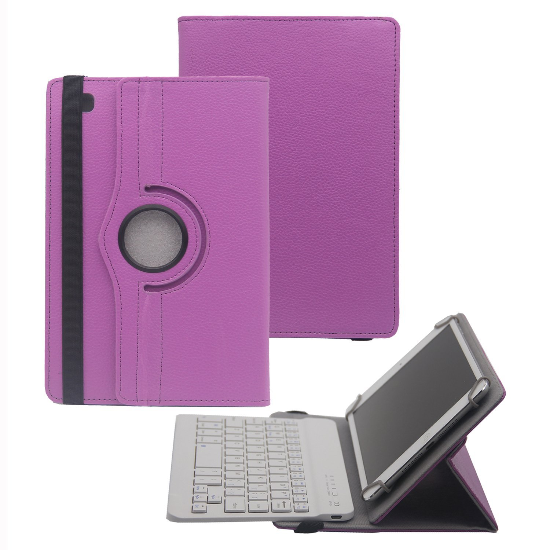 Tsmine 360度回転Bluetoothキーボードケースfor Asus Asus ZenPad 10 2 BKB-10W-LZW360-10-PURPLE+ZEN-10-2 B01GJG3EQ0 Asus ZenPad 10 2|ロータリーパープル / ホワイト KB ロータリーパープル / ホワイト KB Asus ZenPad 10 2