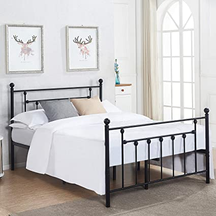 7f5621f60e49 Amazon.com: VECELO PRIMO3LT-QUEEN-03 Queen Size Bed Frame Mattress ...