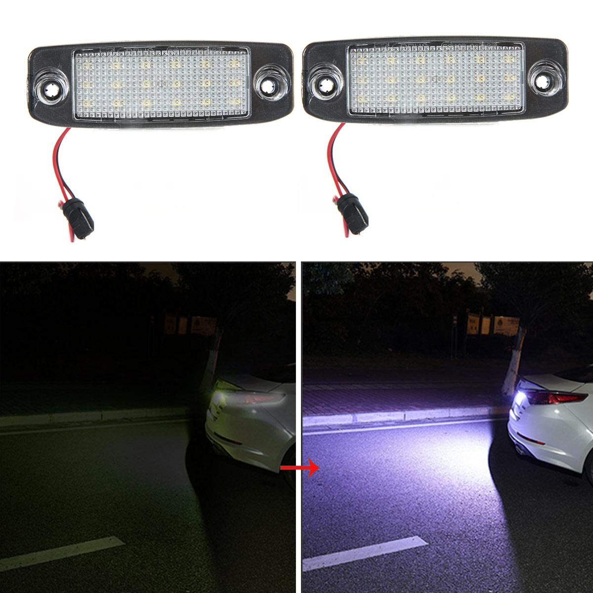 DokFin 2 Pezzi luci Targa Auto LED Lampada Targa per Hyundai Tuscon 2005-2009 kia sportage 2009-2019