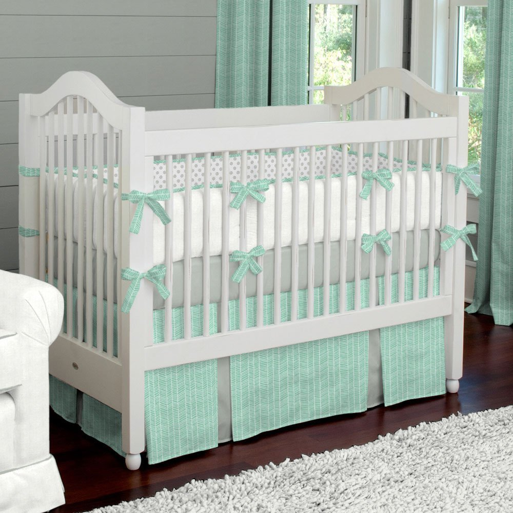 Organic Bamboo Waterproof Crib Mattress Protector Pad Cover (52 x 28 X 9)