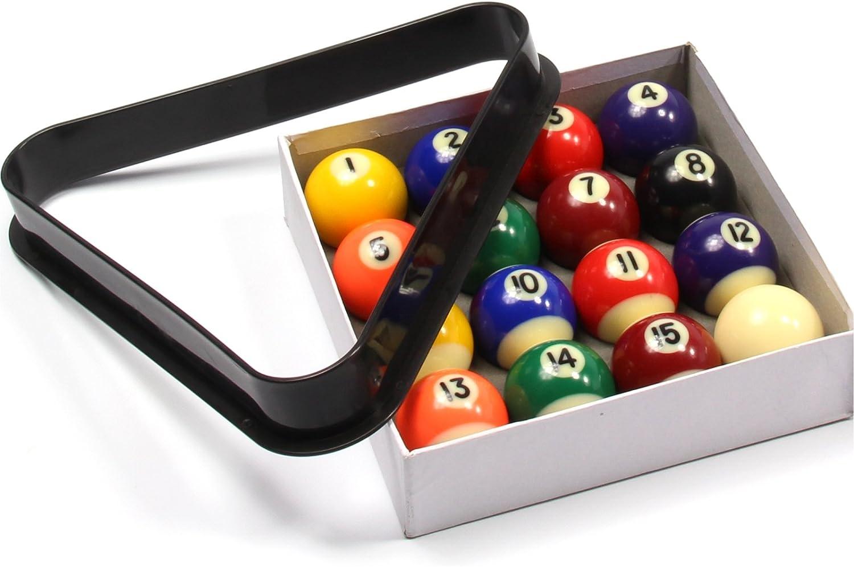 Funky Chalk Small Pool Balls /& Triangle Set-1 5//8 Inch-41mm Economy Spots /& Stripes-Juego de Bolas de Piscina y Triangle Unisex Adulto 41 mm