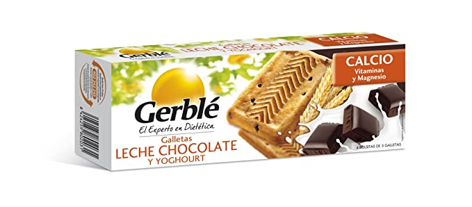 Gerblé - Galletas con Leche Chocolate Y Yoghourt - 4 bolsitas de 5 galletas - 230