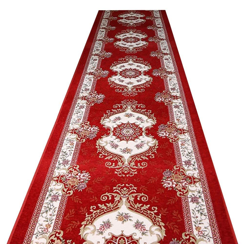 KKCF 廊下のカーペット消えないで耐摩耗性イージーケアしわ防止混紡複数のサイズ 、赤 (色 : 赤, サイズ さいず : 1.2x7m) B07NQHDRPV 赤 1.2x7m