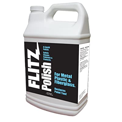 Flitz LQ 04510 Metal/Plastic/Fiberglass Polish Liquid - 1 gal: Automotive