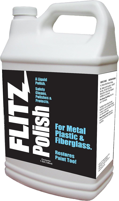 Flitz LQ 04510 Metal/Plastic/Fiberglass Polish Liquid - 1 GAL