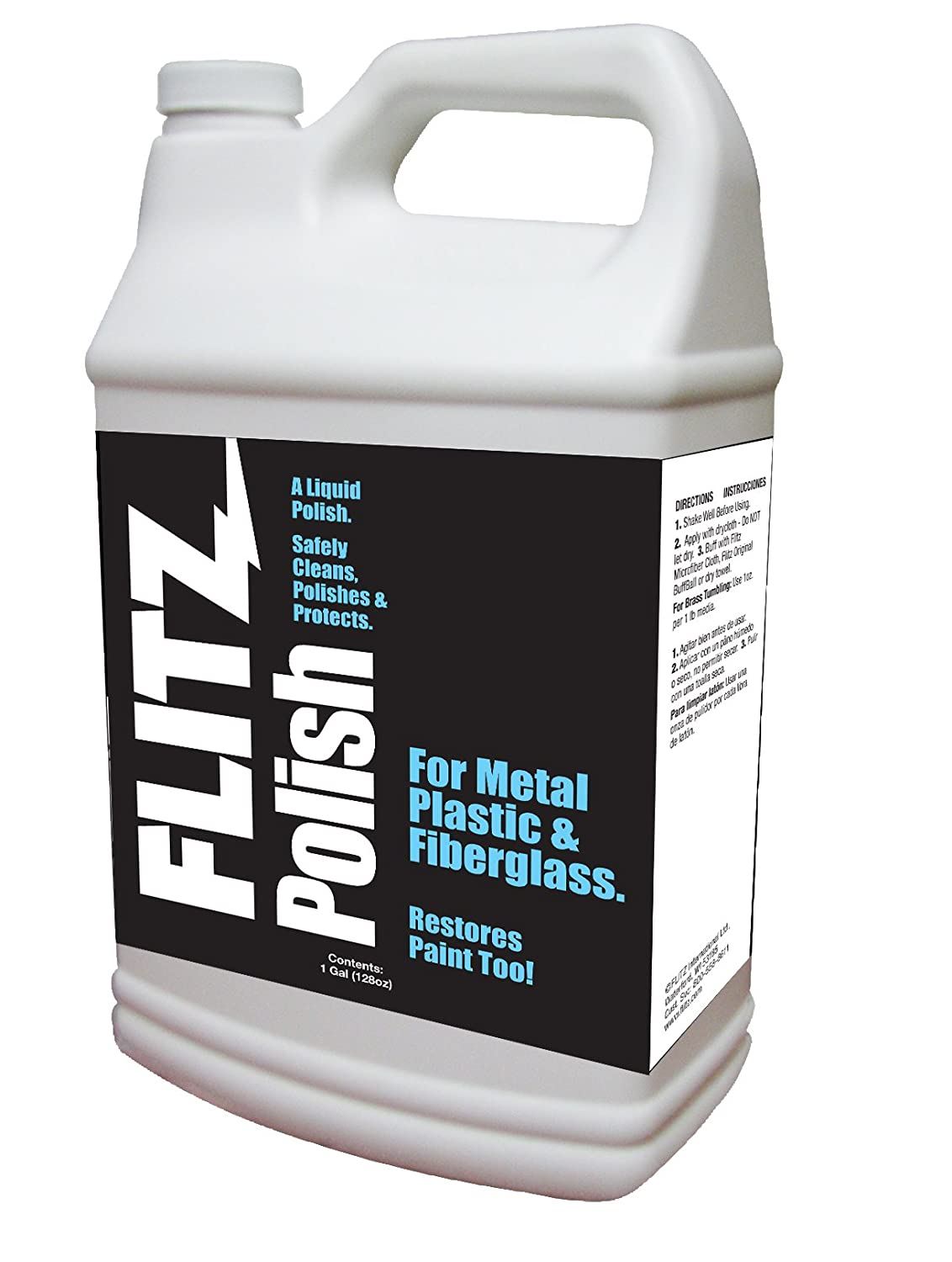 Flitz LQ 04506 Green Metal, Plastic and Fiberglass Polish Liquid, 16-Ounce Bottle