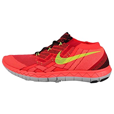 Nike Free 3.0 Flyknit Chaussures Hommes Noir / Rouge / Rouge / Volt