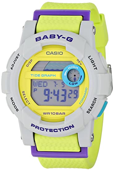 636fefee987f6 Image Unavailable. Image not available for. Color  Casio Baby-G G-Lide Digital  Dial Multi Color Resin Quartz Ladies Watch BGD180