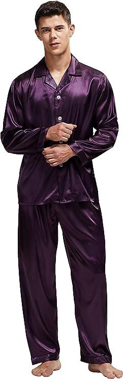 Model has worn purple pajama pants