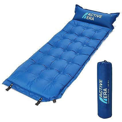 Active Era Selbstaufblasende Schlafunterlage für Camping mit Kissen und Lufttaschen | Ultraleichte und Bequeme Schaum-Schlafu