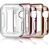 Oumidao [3 Pack] Case Compatible with Apple Watch Series 6 / SE / Series 5/ Series 4 with Built in Screen Protector 40mm…