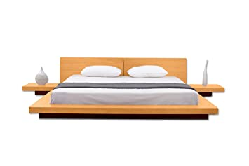 Matisse Fujian Modern Platform + 2 Night Stands King (Oak).