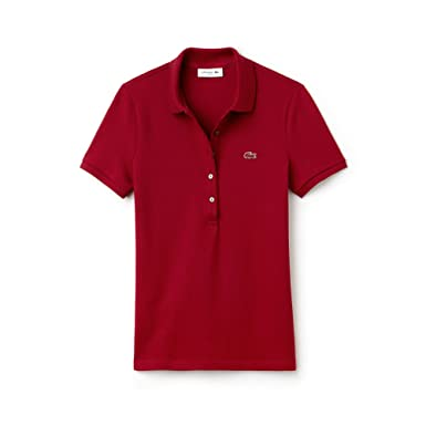 5ac253fe48a038 Lacoste PF7845, Polo Femme, Rouge (Bordeaux 476), (Taille Fabricant