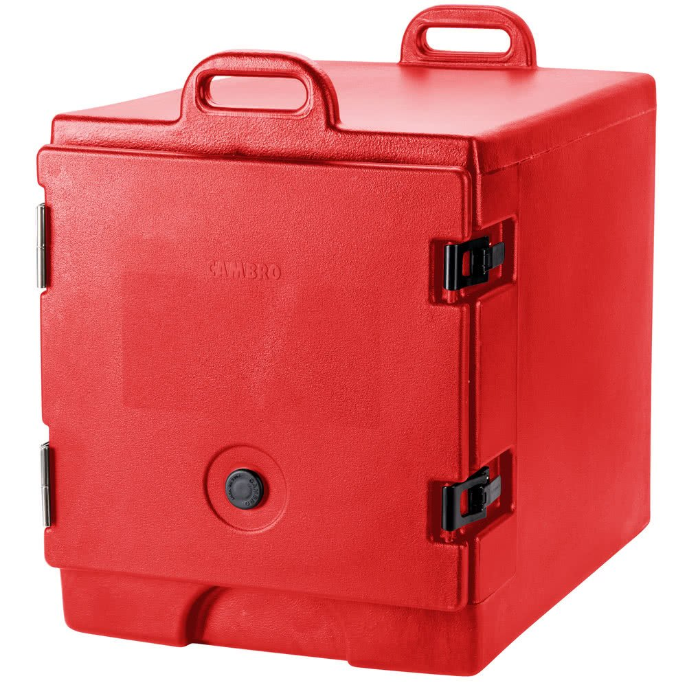 TableTop king 300MPC158 Hot Red Camcarrier Pan Carrier with Handles - Front Load for 12'' x 20'' Food Pans