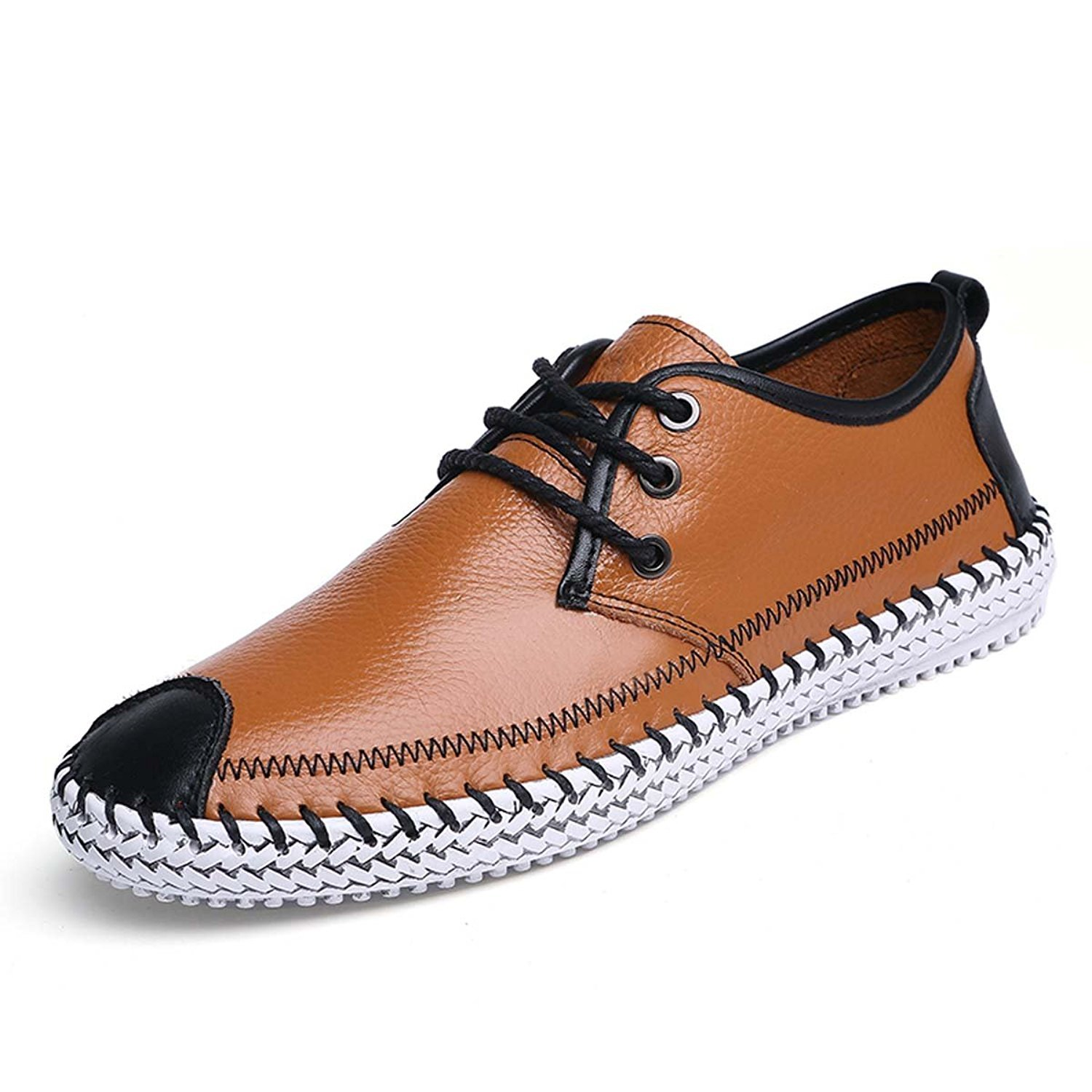 b9518b5595a8 hot sale MMC Men s Fashion Casual Leather Shoes Comfortable Soft Loafers  Driving Walking Flat Lace Up