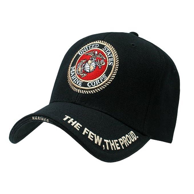 Amazon.com  USMC U.S. MARINES INSIGNIA HAT CAP MILITARY HATS CAPS ... 8710ddae218