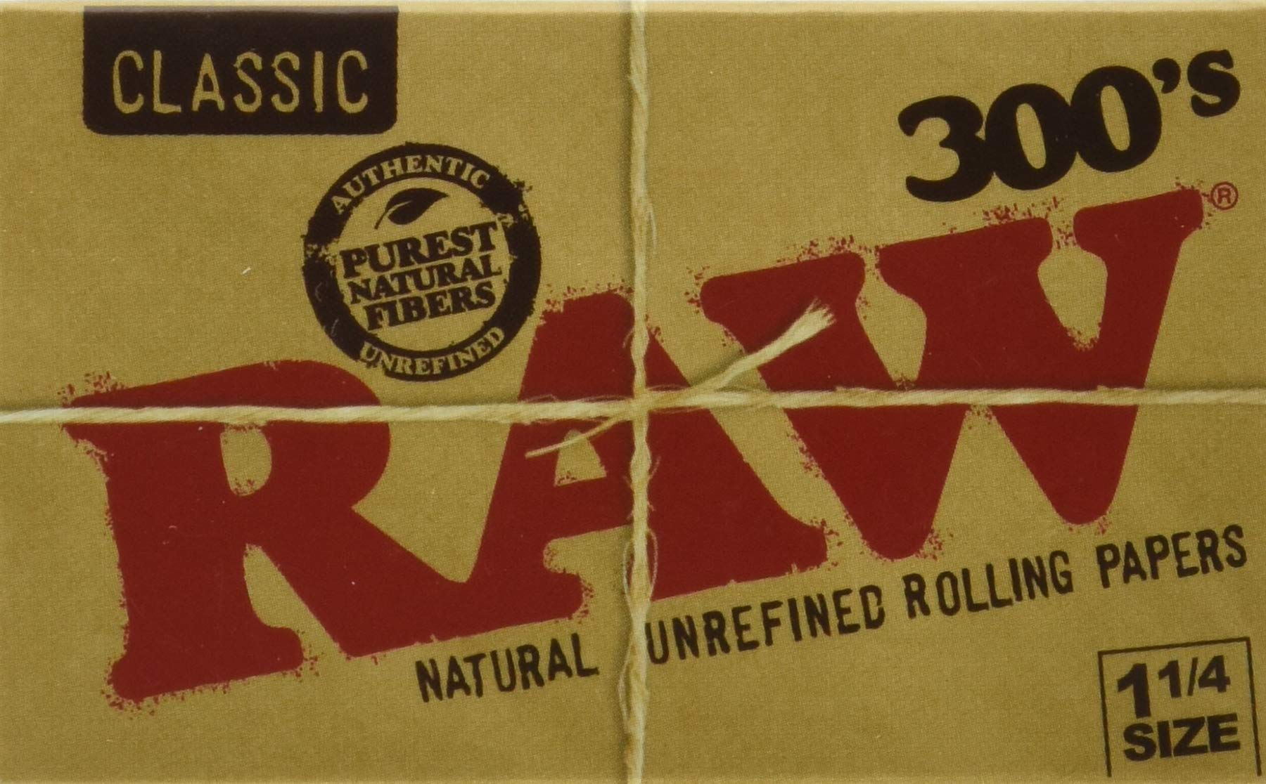 RAW 300 Classic 1.25 1 1/4 Size Rolling Papers, 300 Count (Pack of 1)