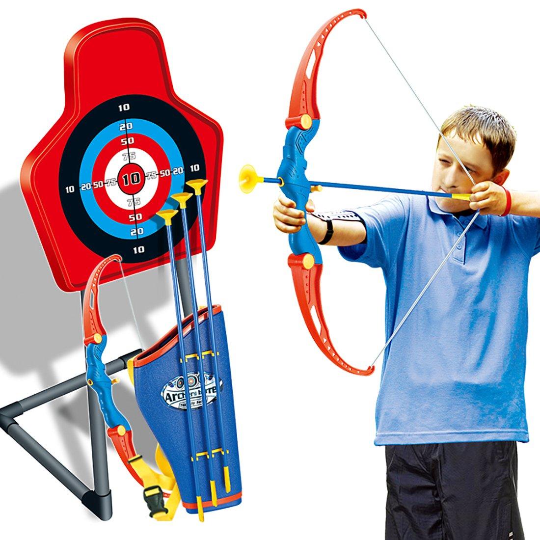 giplar tiro con arco infantil arco y flechas para niños bogenp Feil Juego 1er arco 3 Flecha 1 estuche y 1er Diana