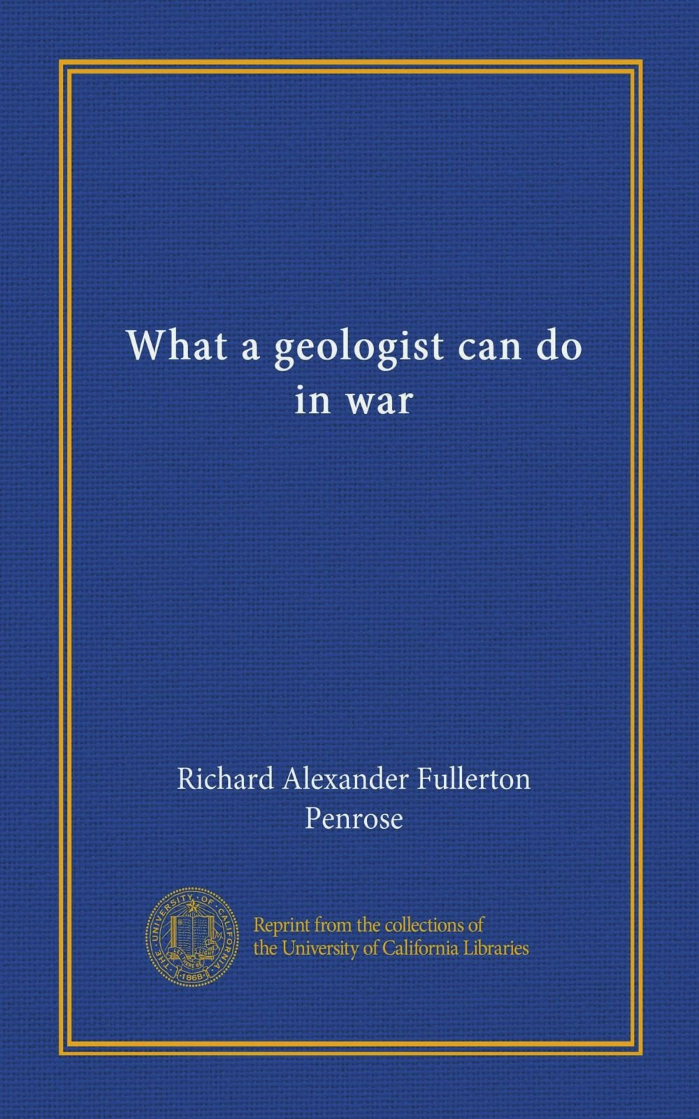 What a geologist can do in war pdf epub