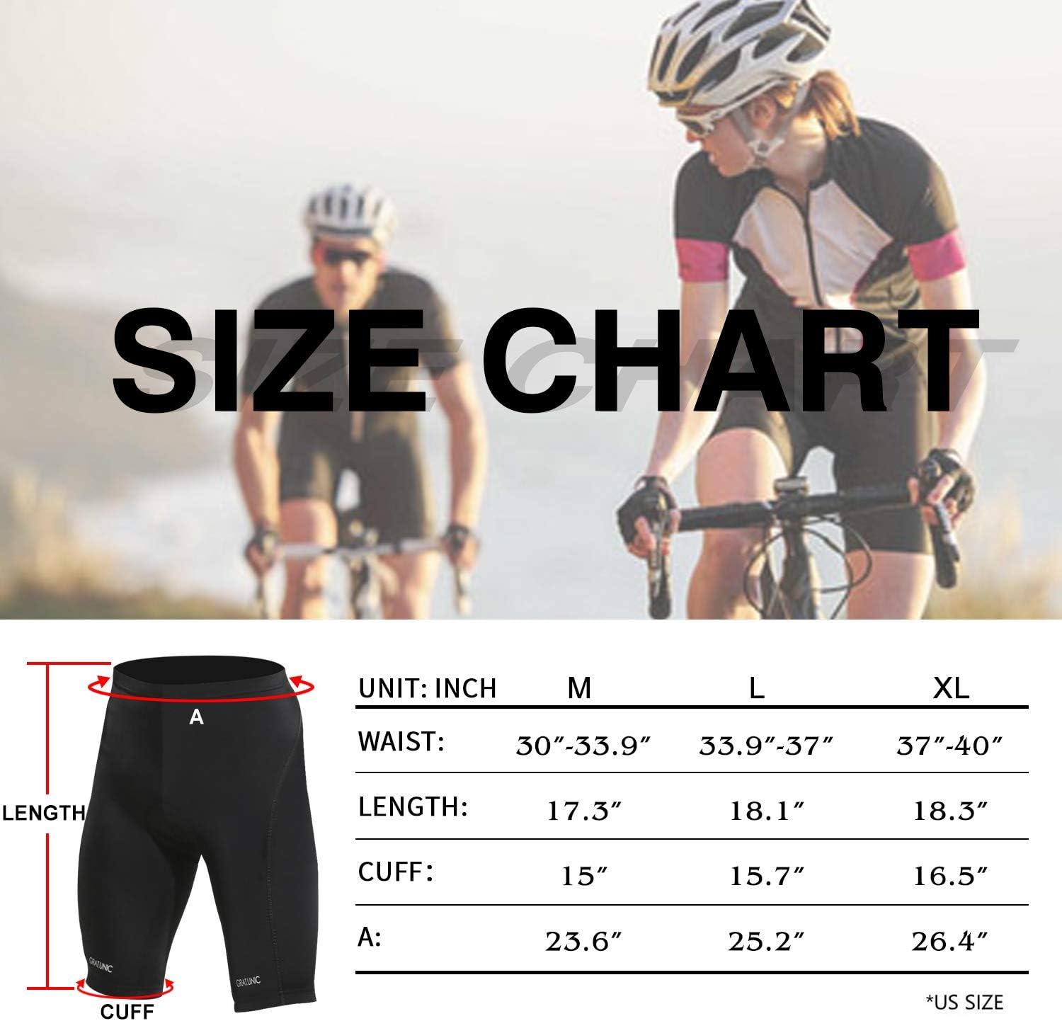 GRAT.UNIC Short de Cyclisme,Short V/élo,Cuissard de Cyclisme,Homme S/échage Rapide de 9D Rembourr/é Confortable Sports Short Cycliste Homme