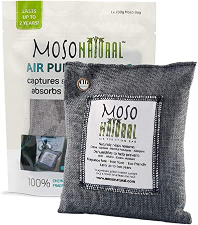 Air Purifying Dry Fresh Bag Bamboo Charcoal Deodorizer for Smoke Smell Pet Odor