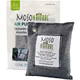 MOSO NATURAL Air Purifying Bag. Odor Eliminator, Odor Absorber for Cars and Closets 200g, Charcoal Color