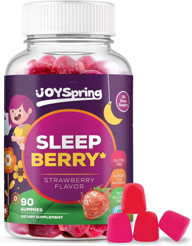 SleepBerry Melatonin Gummies - Natural Sleep Aids - Helps Fall Asleep Fast and Wake Up Rested - Tasty Strawberry Flavor, 5mg