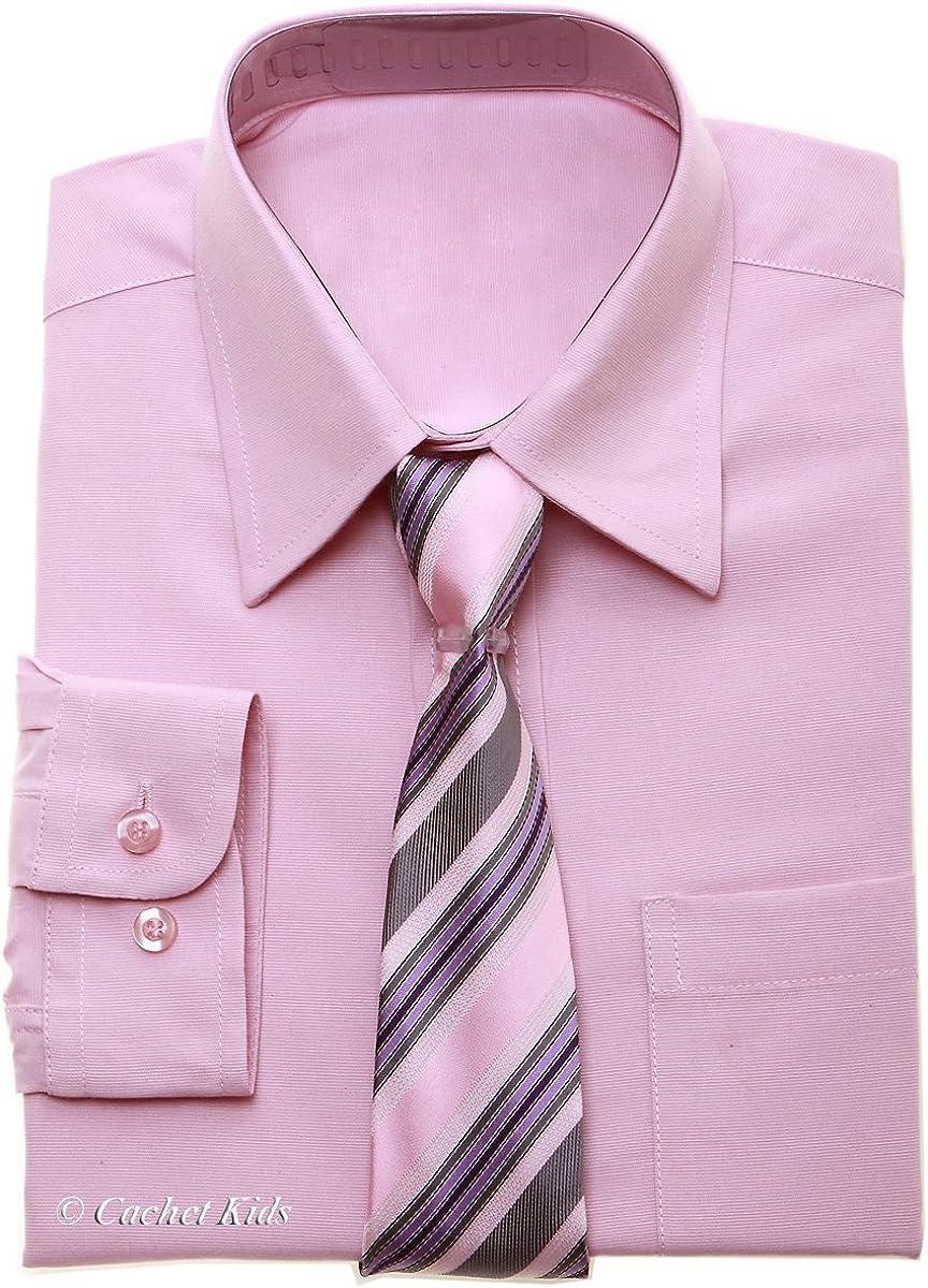 Camiseta – Camiseta para niño rosa rosa camisa y corbata Set