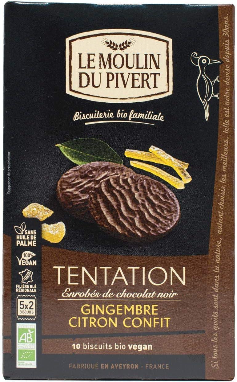Le Moulin Du Pivert Galletas Tentación Jengibre Y Limón Bañadas En ...