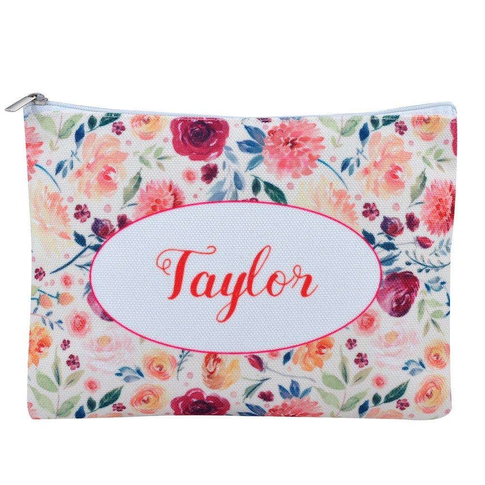 Personalized 16oz Makeup Bag, Custom Bridal Hen Party Bag, Bridesmaid Gift Bag, Canvas Cosmetic Bag Organizer