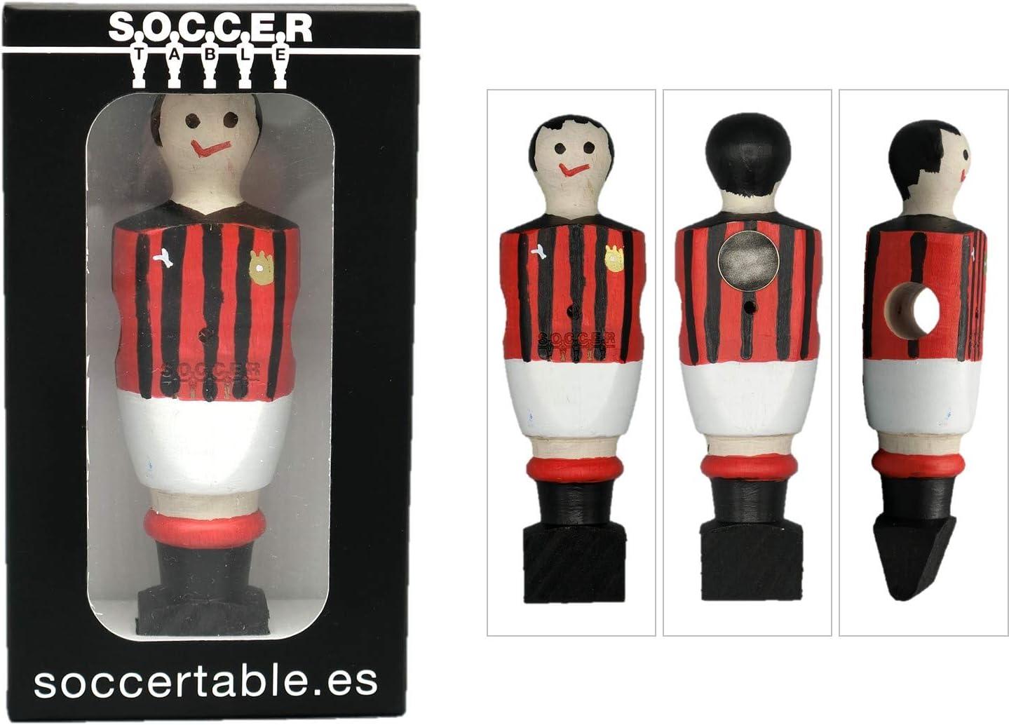 Soccer Table SL Individual Jugador de Futbolín Milan con imán ...