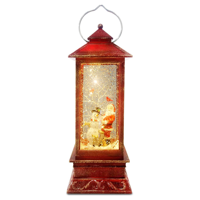 ReLive 10.75'' LED Lighted Glitter Lantern (Santa/Snowman)