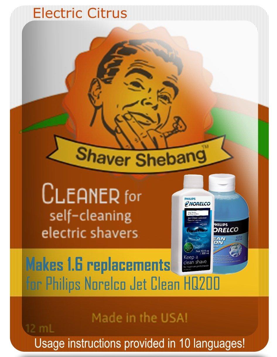 Philips Norelco Jet Clean HQ200 Citrus, 8 bottles=5 pack Shaver Shebang