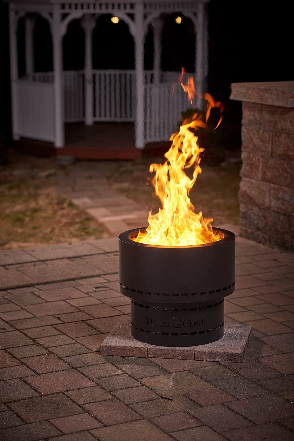Flame Genie Wood Pellet Fire Pit Amazon Co Uk Kitchen Home