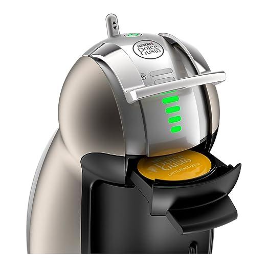 Krups KP160T Nescafe Dolce Gusto Genio2 - Cafetera monodosis automática, color plateado: Amazon.es: Hogar