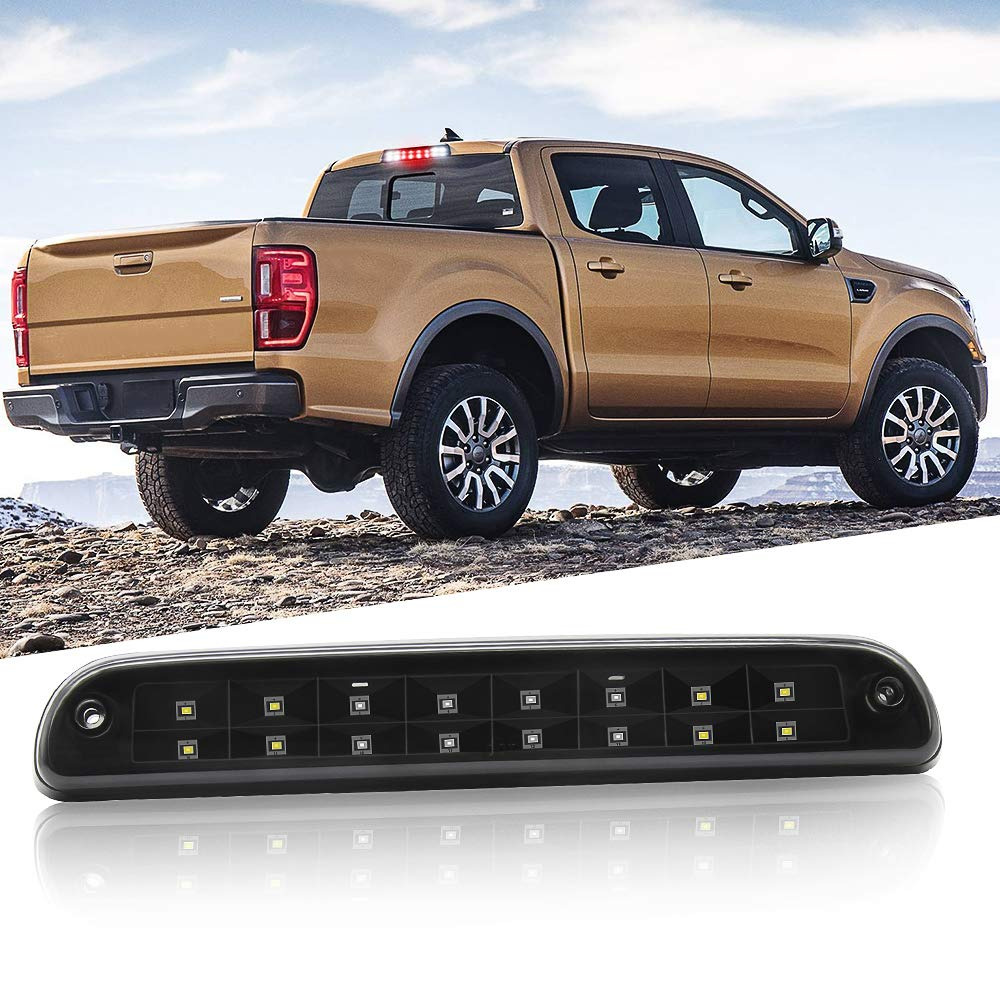 Black//Smoke Easy Eagle 3rd LED High Mount Stop//Tail Brake//Cargo Lights with Dual Row LEDs for Ford F150 2009 2010 2011 2012 2013 2014