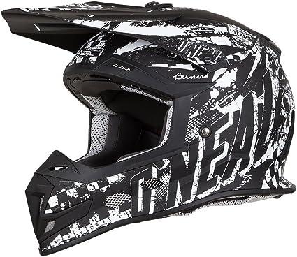 O/'Neal Unisex-Adult Off Road 2SERIES Helmet SLICK Black//Gray Medium