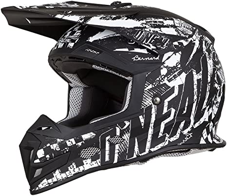 ONeal Motocross-Helm 5Series Trace Schwarz Gr S