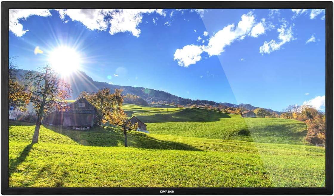 KUVASONG True 1500 Nits 55 Inches Sun Readable Smart Outdoor TV for Outdoor Covered Area, High Brightness Outdoor Television, 4K UHD HDR, RJ45, WiFi, ATSC+NTSC, External Soundbar