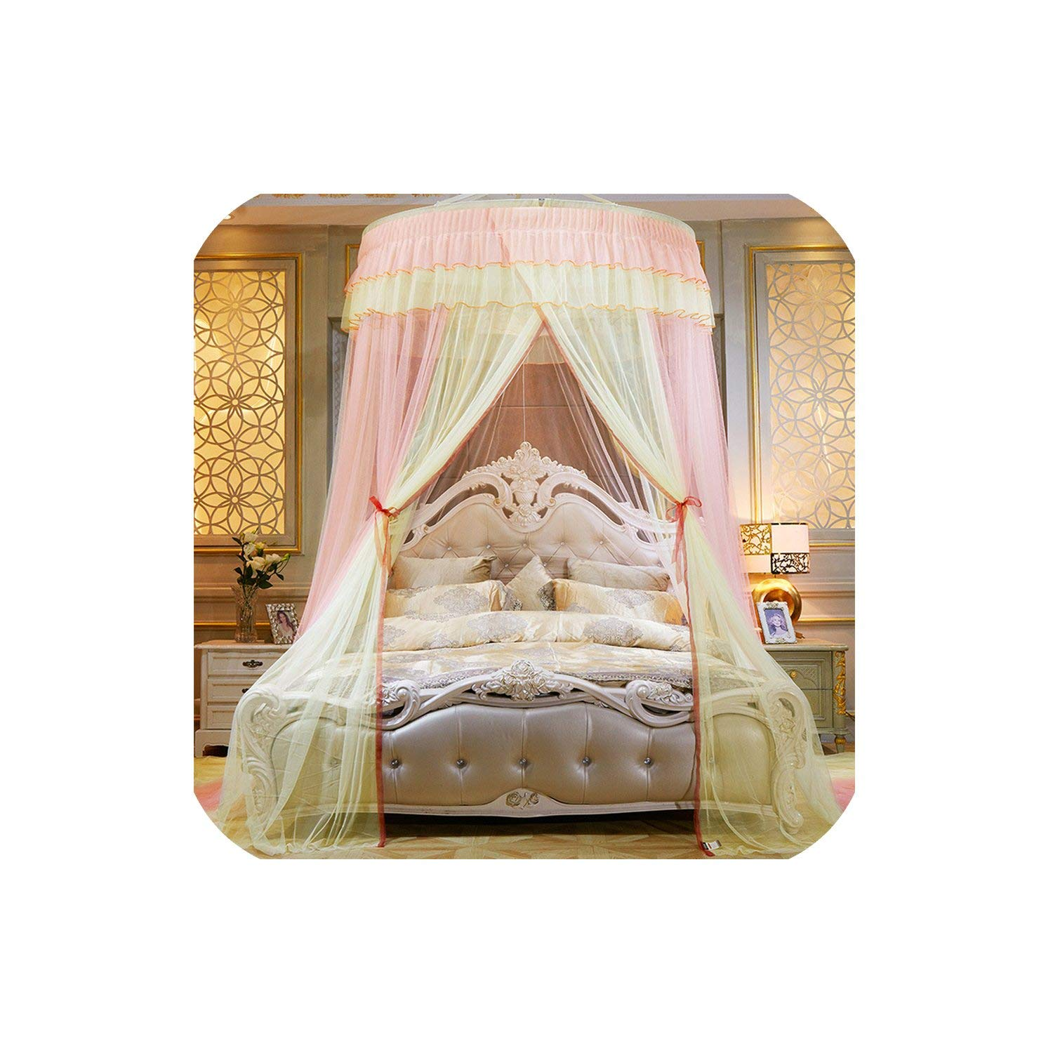 Colorful Mosquito Net Princess Insect Net Single Door Hung Dome Bed Canopies Netting Round Mosquito Net Commonly Used,3