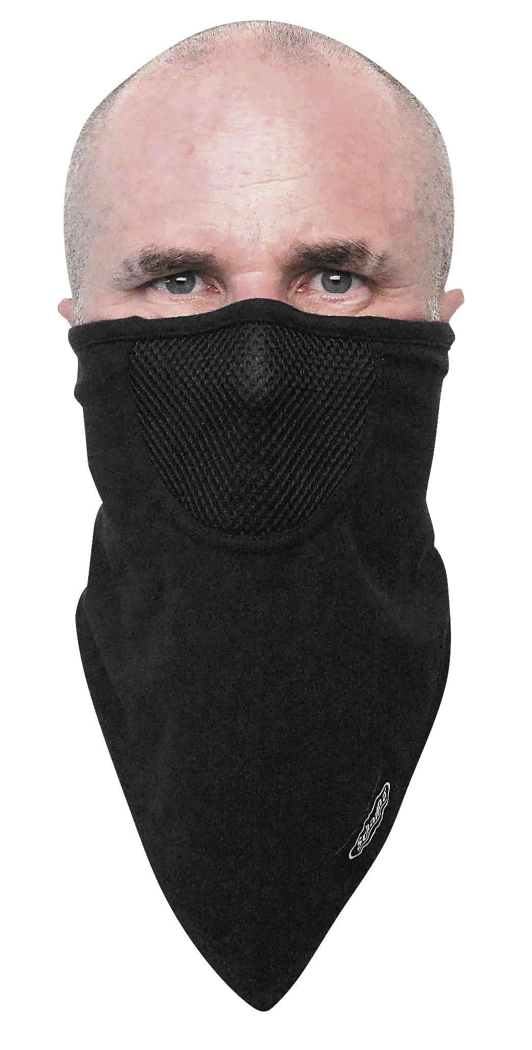 Schampa FaceFit I-Tie Facemask (Black, OSFM)