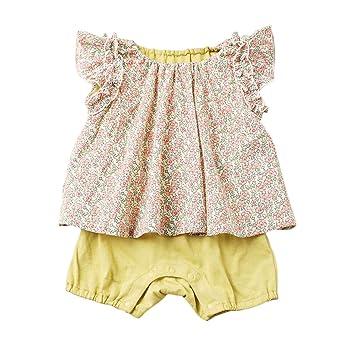 213b1f7700e43 cote cotte(コトコット) ベビー レイヤード風 ロンパース 赤ちゃん 女の子 カバーオール ベビー服 70㎝ ピンク