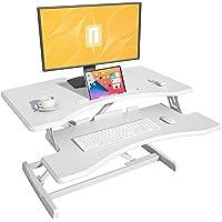 FEZIBO Height Adjustable Stand up Desk Converter – 30 inches Desk Riser, Sit Stand Desk Ergonomic Tabletop Workstation…