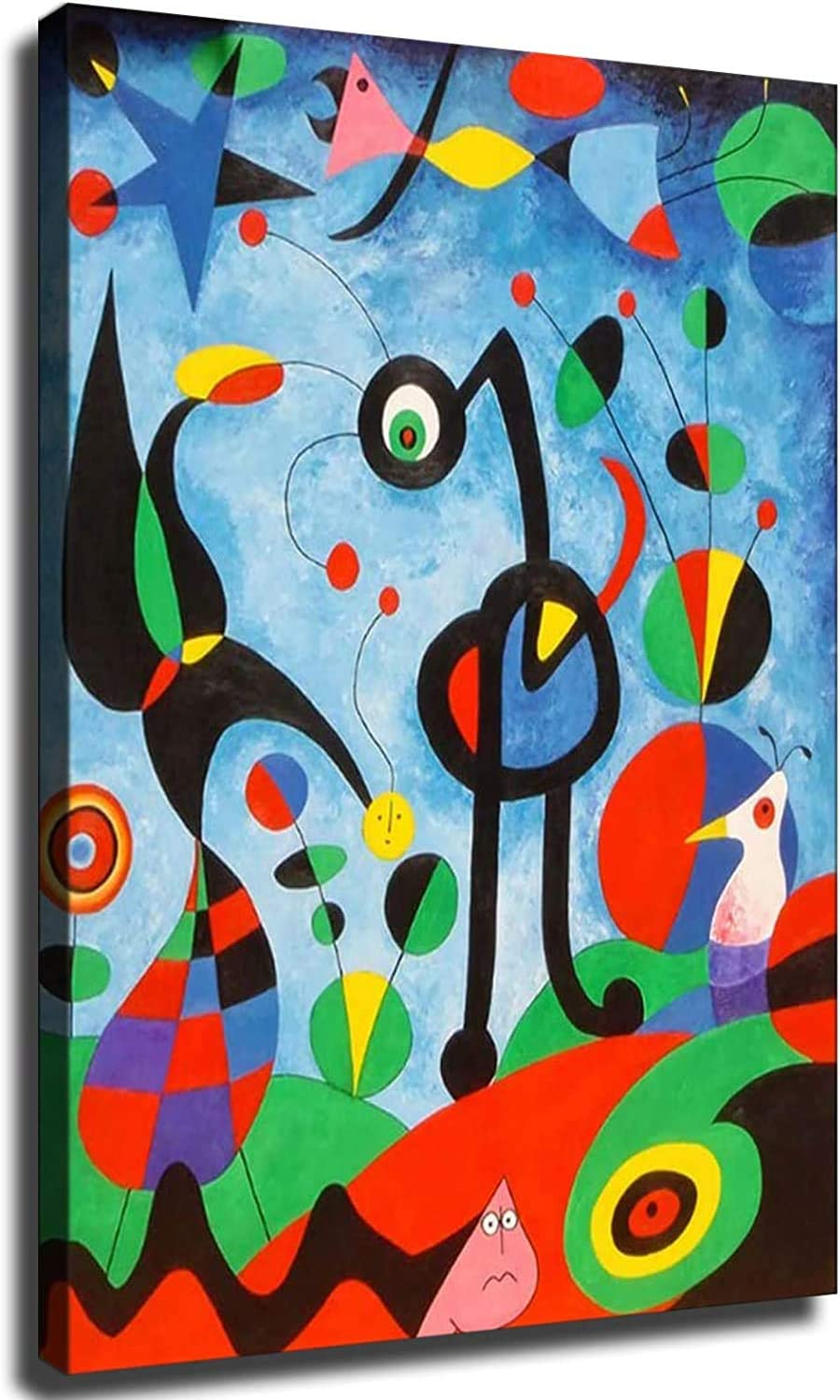 Home Decor Print Oil Painting on Canvas Wall Art, Canvas Abstract Figure Painting (16x24 inch,Framed)