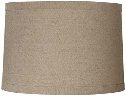 springcrest natural linen drum shade 15x16x11 spider